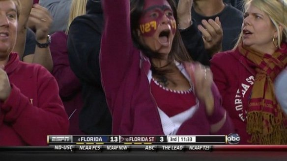 FSU Backwards on Face
